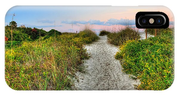 Shoreline Path To View Morris Island Lighthouse Phone Case by Jenny Ellen Photography