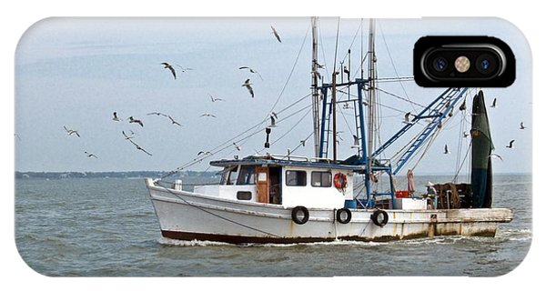Shrimp Boat And Gulls IPhone Case