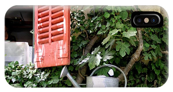 Shutters And Watering Can IPhone Case