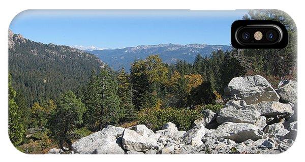 Sierra Nevada iPhone Case - Sierra Nevada Mountains 1 by Naxart Studio