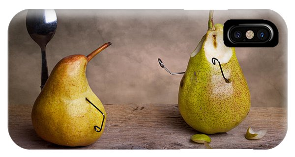 Pear iPhone Case - Simple Things 13 by Nailia Schwarz