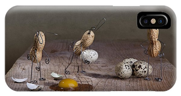 Eggs iPhone Case - Simple Things Easter 04 by Nailia Schwarz