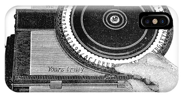 Simplex Typewriter, Early 20th Century IPhone Case