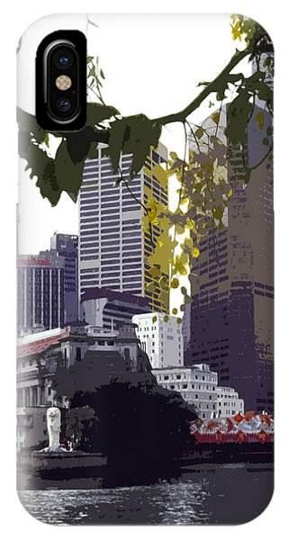 Stamford iPhone Case - Singapore ... The Lion City  by Juergen Weiss