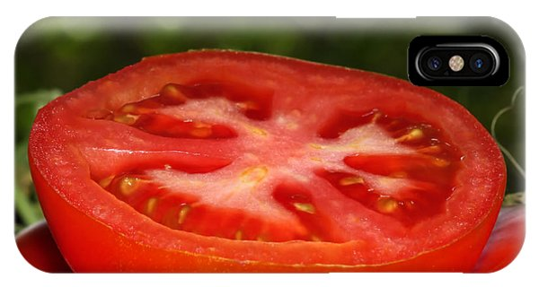 Sliced Tomato In The Garden IPhone Case