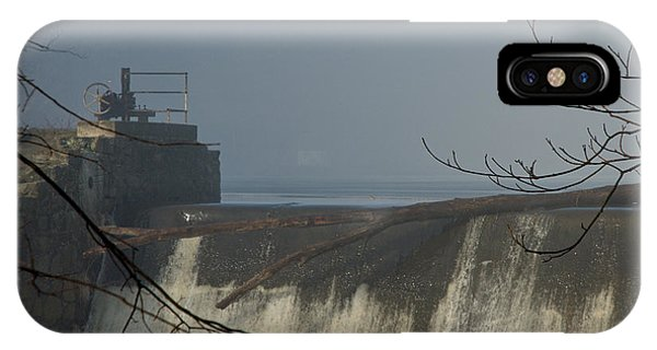 Small Dam In Fog IPhone Case