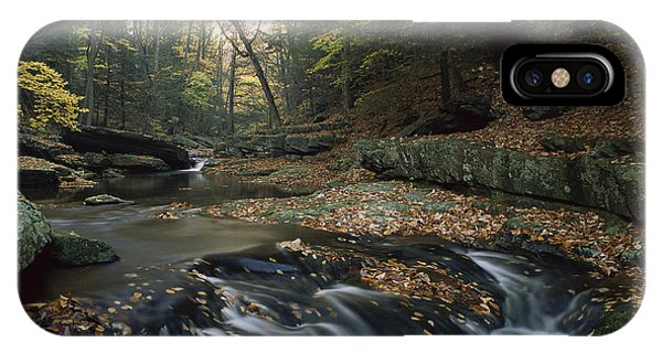 Catoctin Mountain Park iPhone Case - Small Waterfall On Hunting Creek by Gerry Ellis
