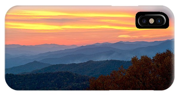 Smoky Mountains Burning Sunset IPhone Case