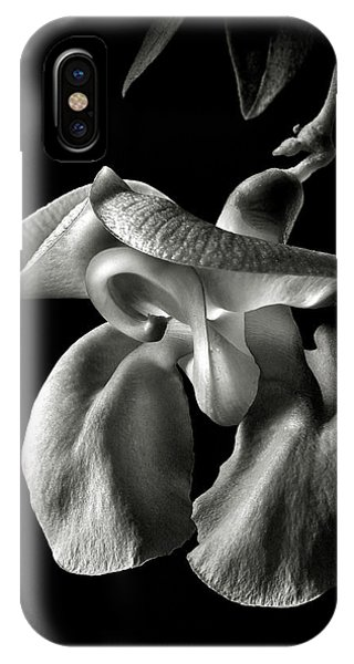 Snail Flower In Black And White IPhone Case
