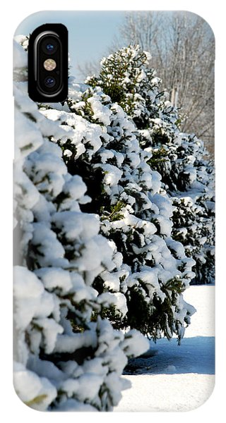 Snow In The Trees IPhone Case