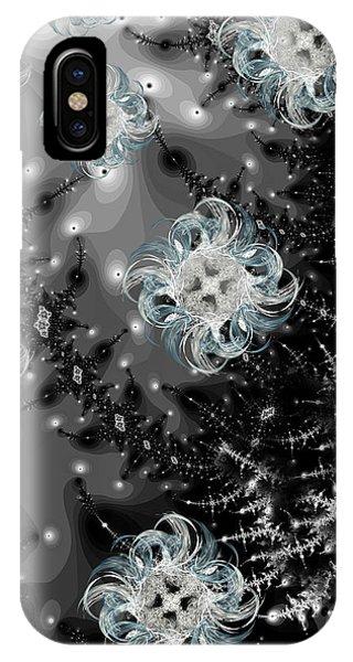 Fractal Landscape iPhone Case - Snowy Night IIi Fractal by Betsy Knapp