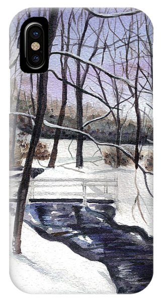Snowy Shawnee Stream IPhone Case