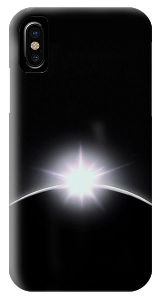 Solar Eclipse Diamond Ring Effect Phone Case by