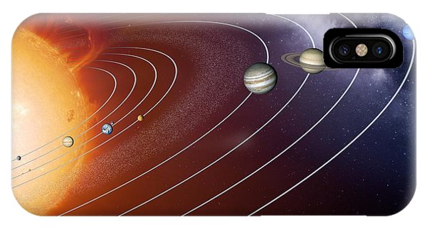 Solar System Orbits, Artwork Phone Case by Detlev Van Ravenswaay