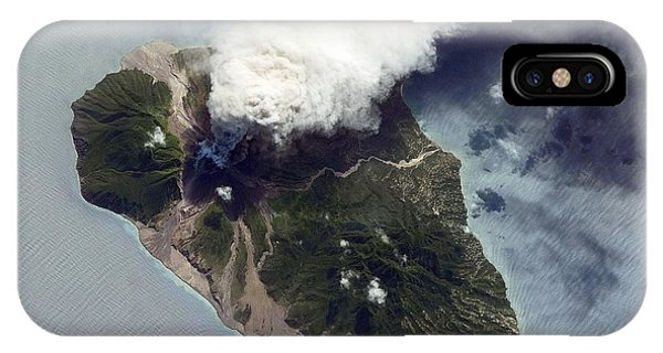 Pyroclastic Flow iPhone Case - Soufriere Hills Eruption, Iss Image by Nasa
