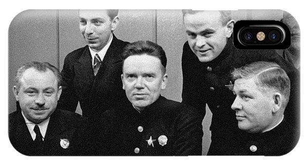 Soviet North Pole-1 Station Crew, 1939 IPhone Case