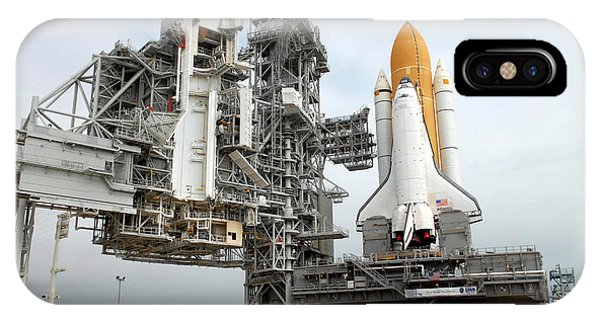 Liftoff iPhone Case - Space Shuttle Atlantis Sits On Launch by Stocktrek Images