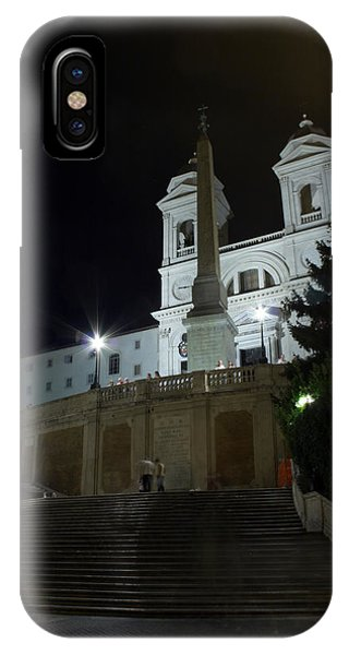Spanish Steps At Night IPhone Case