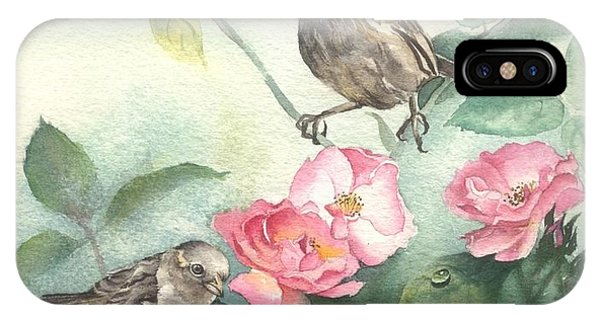 Sparrows And Dog Rose IPhone Case
