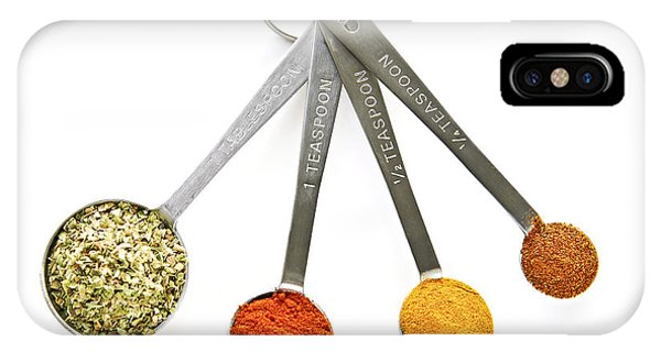 Stainless Steel iPhone Case - Spices In Measuring Spoons by Elena Elisseeva