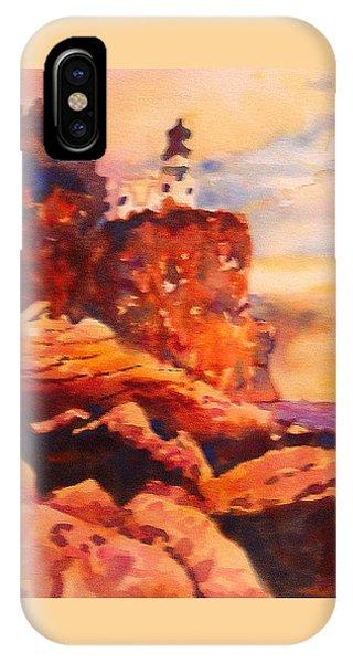 Split Rock iPhone Case - Split Rocks Golden Memories       by Kathy Braud