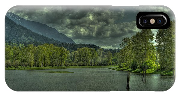 Spring Clouds At The Nicomen Slough IPhone Case
