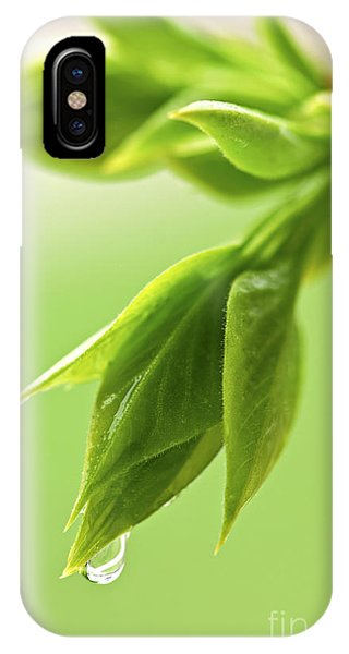 Spring Green Leaves IPhone Case