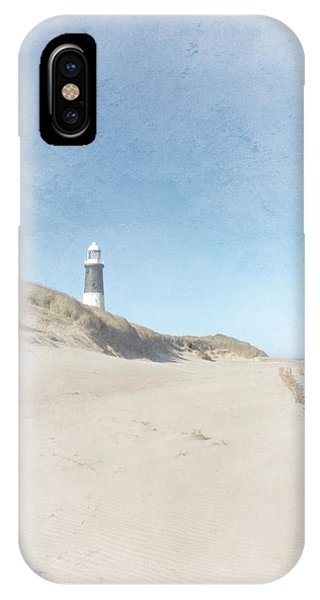 Spurn Point Lighthouse Texture IPhone Case