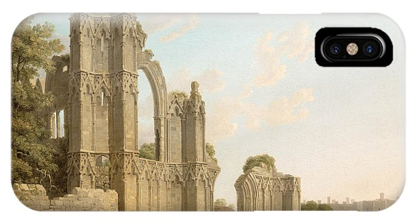 Dilapidation iPhone Case - St Mary's Abbey -york by Michael Rooker