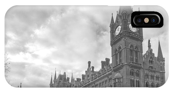 St Pancras Station Bw IPhone Case