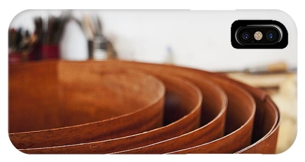 Stack Of Wooden Bowls Phone Case by Jetta Productions, Inc