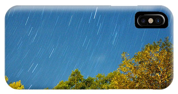 Star Trails On A Blue Sky IPhone Case