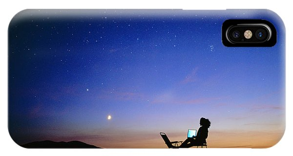 Starry Sky And Stargazer Phone Case by David Nunuk