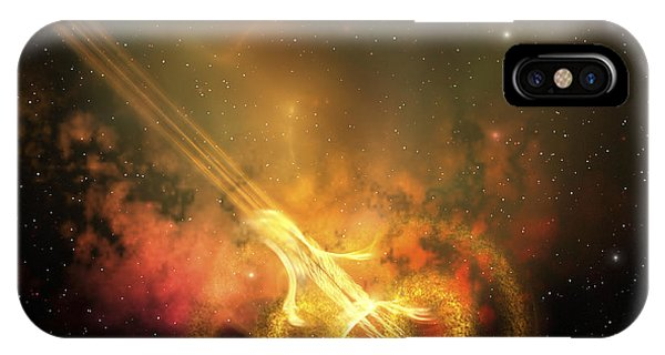Light Speed iPhone Case - Stars And Gases Collide To Form This by Corey Ford