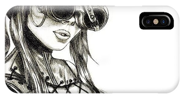 Steampunk iPhone Case - Steampunk Girl 1 by Andres R