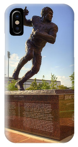 Oklahoma University iPhone Case - Steve Owens by Ricky Barnard