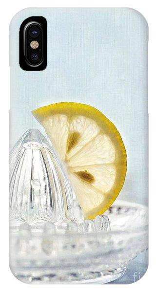 Lemon iPhone Case - Still Life With A Half Slice Of Lemon by Priska Wettstein