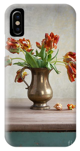 Ornamental iPhone Case - Still Life With Tulips by Nailia Schwarz