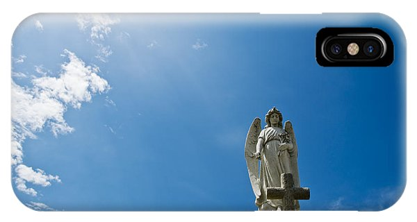 Stone Angel And Blue Sky IPhone Case