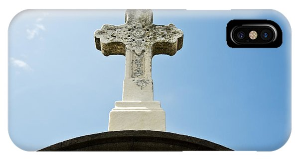 Stone Cross And Blue Sky IPhone Case