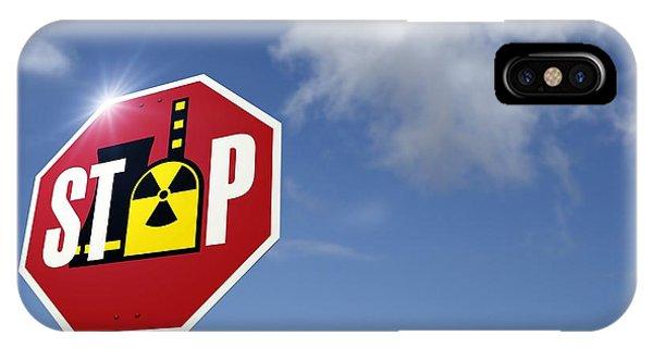 Stop Nuclear Power, Conceptual Artwork Phone Case by Detlev Van Ravenswaay