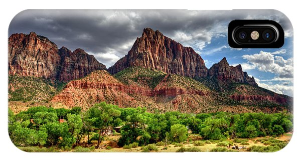 Storm Brewing In Desert IPhone Case