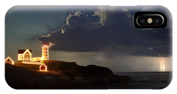 Storm Energizes The Lightning And The Lighthouse IPhone Case
