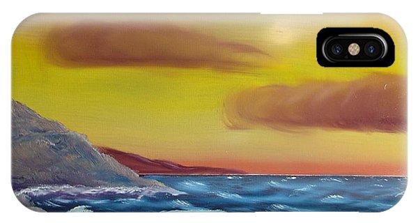 Stormy Beach IPhone Case