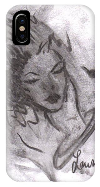 IPhone Case featuring the drawing Story Of My Heart by Laurie Lundquist