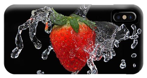 Strawberry-splash IPhone Case