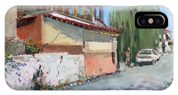 School iPhone Case - Street In A Greek Village by Ylli Haruni