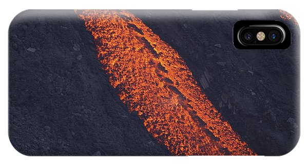 Pyroclastic Flow iPhone Case - Stromboli Lava Flow, Aeolian Islands by Martin Rietze