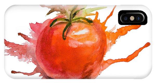 Stylized Illustration Of Tomato IPhone Case