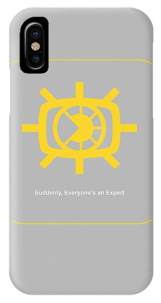 Cause iPhone Case - Suddenly Everyone Is An Expert by Naxart Studio
